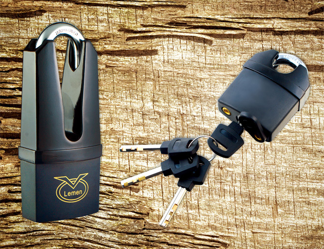 Plastic Armored Padlock With Vane Keys
