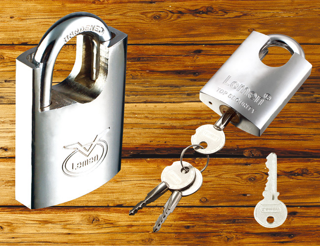 Electroplated Beam-Wrapped Iron Padlock