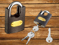 Color Sprayed Beam-wrapped Padlock