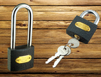 Heavy Type Polished Iron Padlock