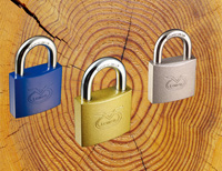 Color Sprayed Iron Padlock